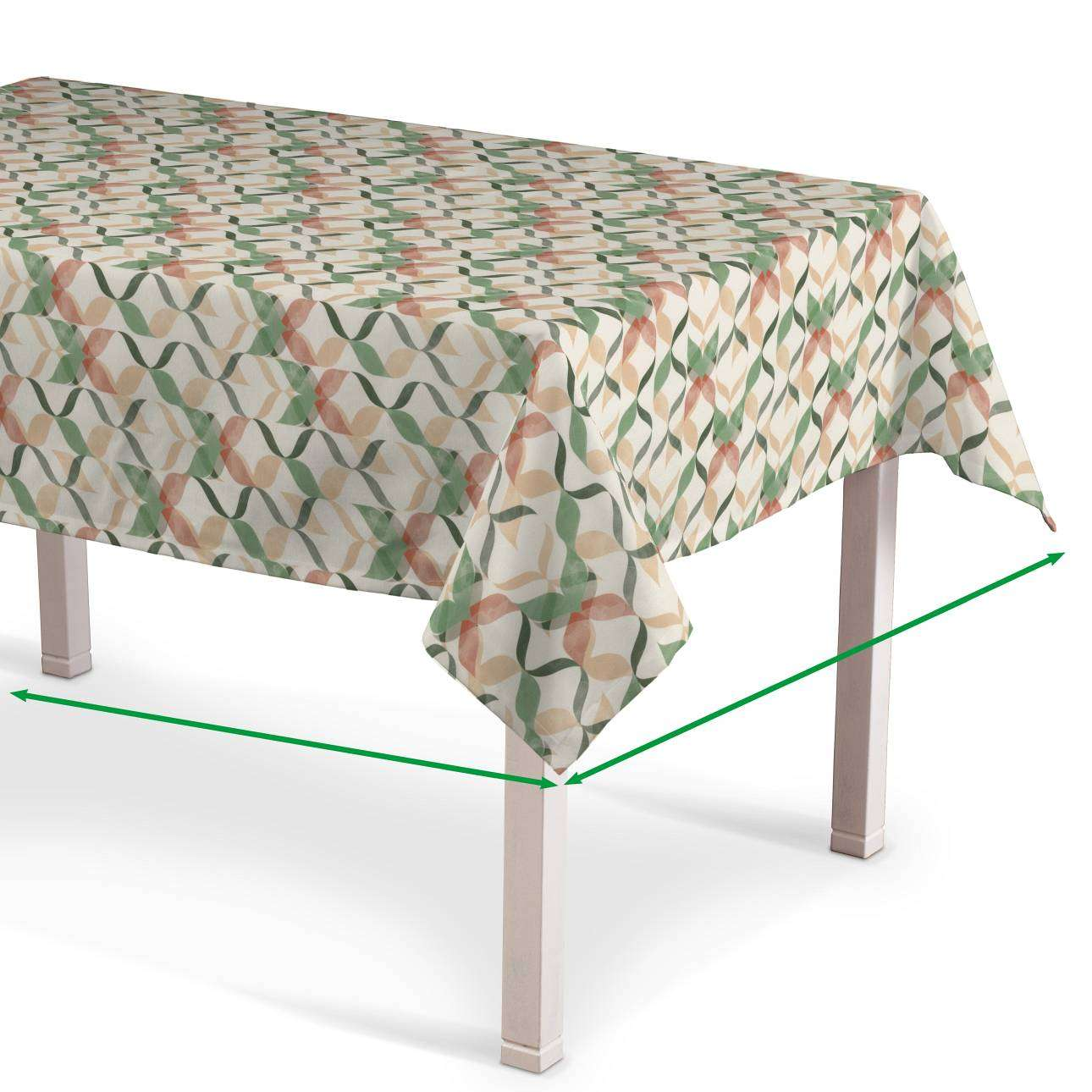 Rectangular tablecloth in collection Urban Jungle, fabric: 141-64
