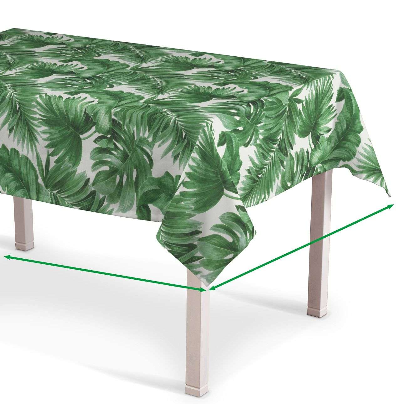 Rectangular tablecloth in collection Urban Jungle, fabric: 141-71