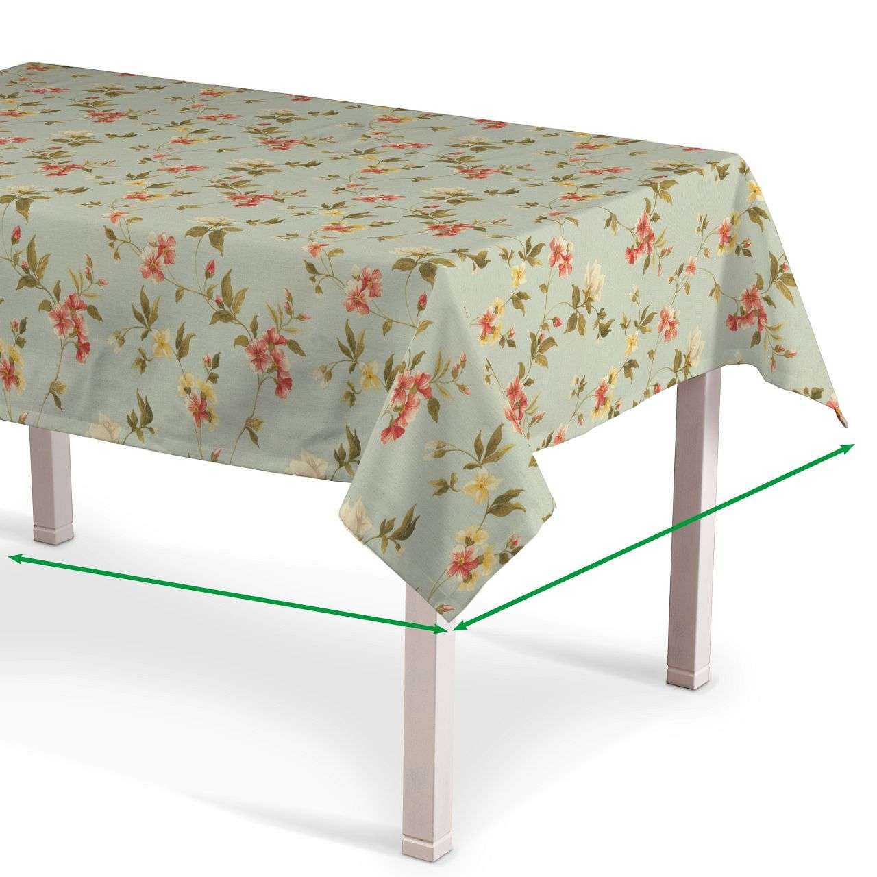 Rektangulær bordduk fra kolleksjonen Londres , Stoffets bredde: 124-65