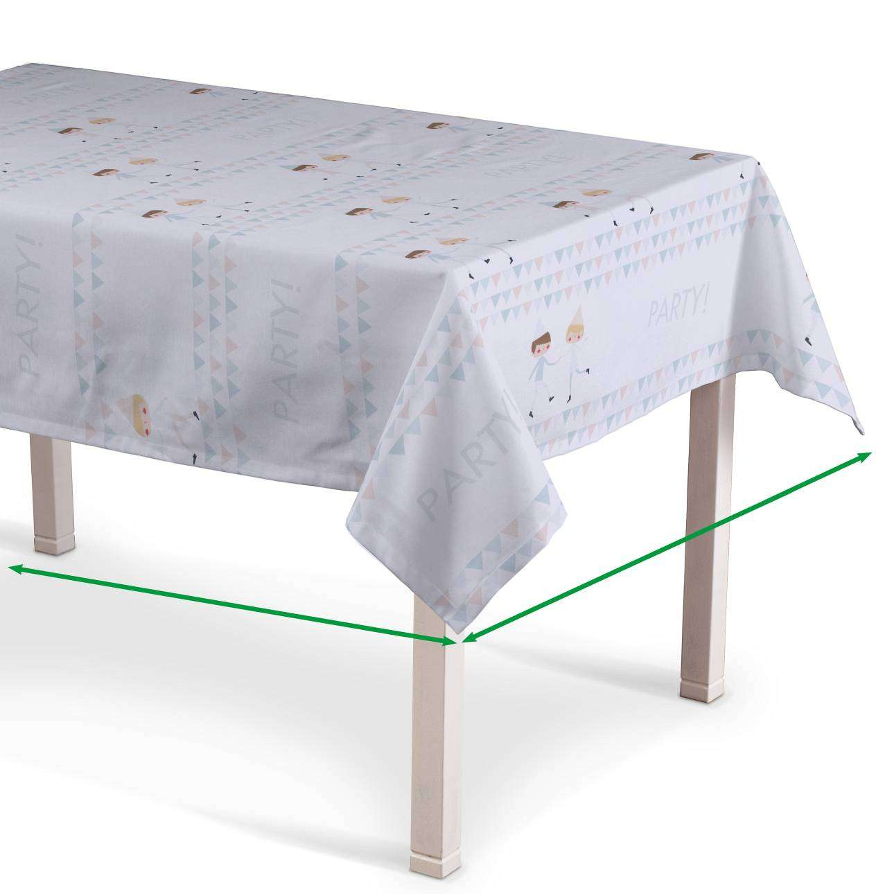 Rectangular tablecloth in collection Apanona, fabric: 151-01