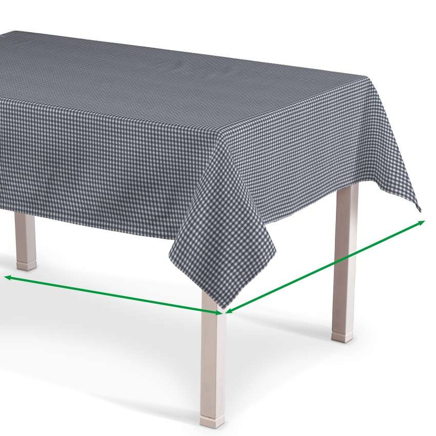 Obrus na stôl obdĺžnikový V kolekcii Quadro, tkanina: 136-00