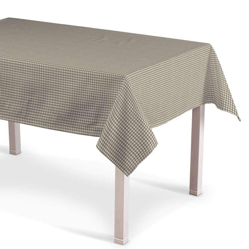 Rektangulær bordduk fra kolleksjonen Quadro, Stoffets bredde: 136-05