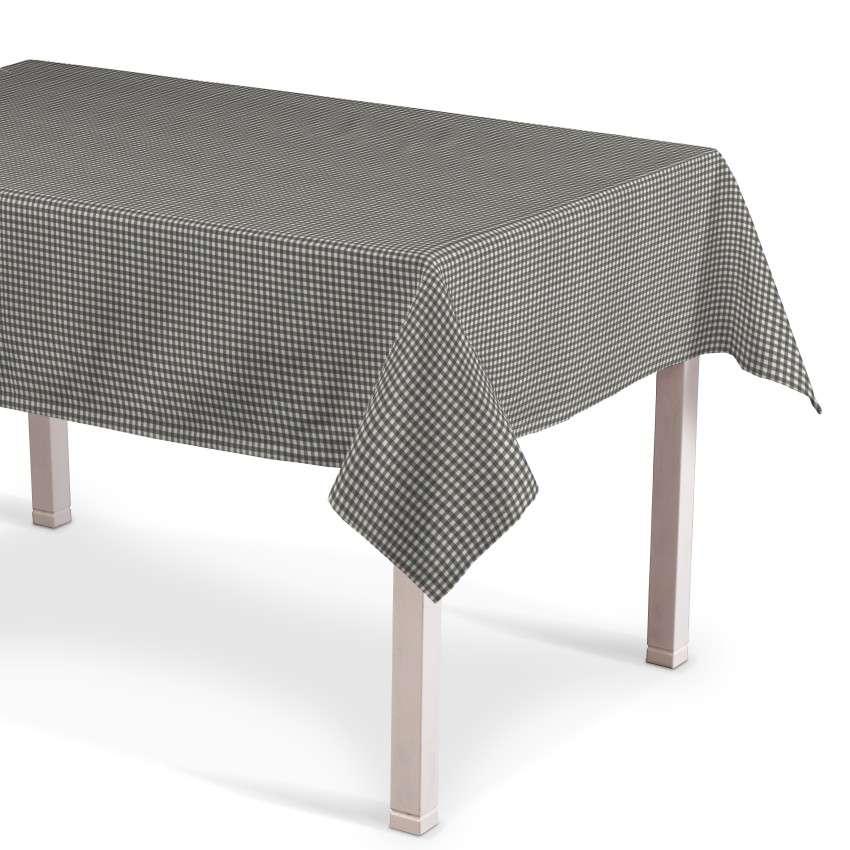 Rektangulær bordduk fra kolleksjonen Quadro, Stoffets bredde: 136-10