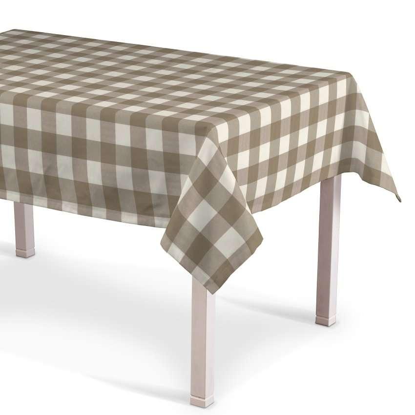Rektangulær bordduk fra kolleksjonen Quadro, Stoffets bredde: 136-08