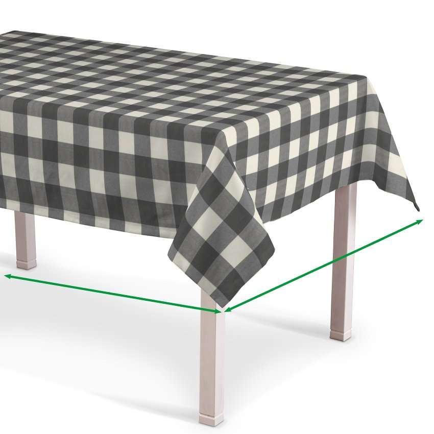 Rechthoekig tafelkleed van de collectie Quadro, Stof: 136-13