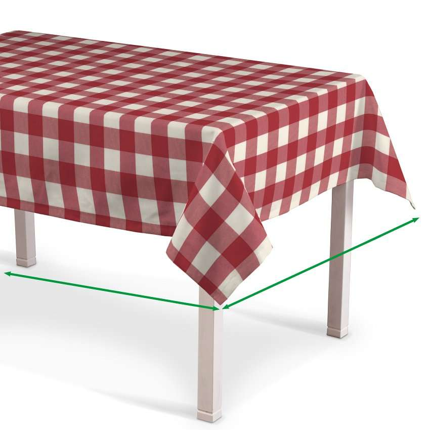 Rektangulær bordduk fra kolleksjonen Quadro, Stoffets bredde: 136-18