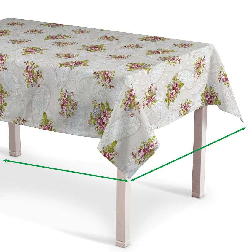 Rektangulær bordduk fra kolleksjonen Flowers, Stoffets bredde: 311-15