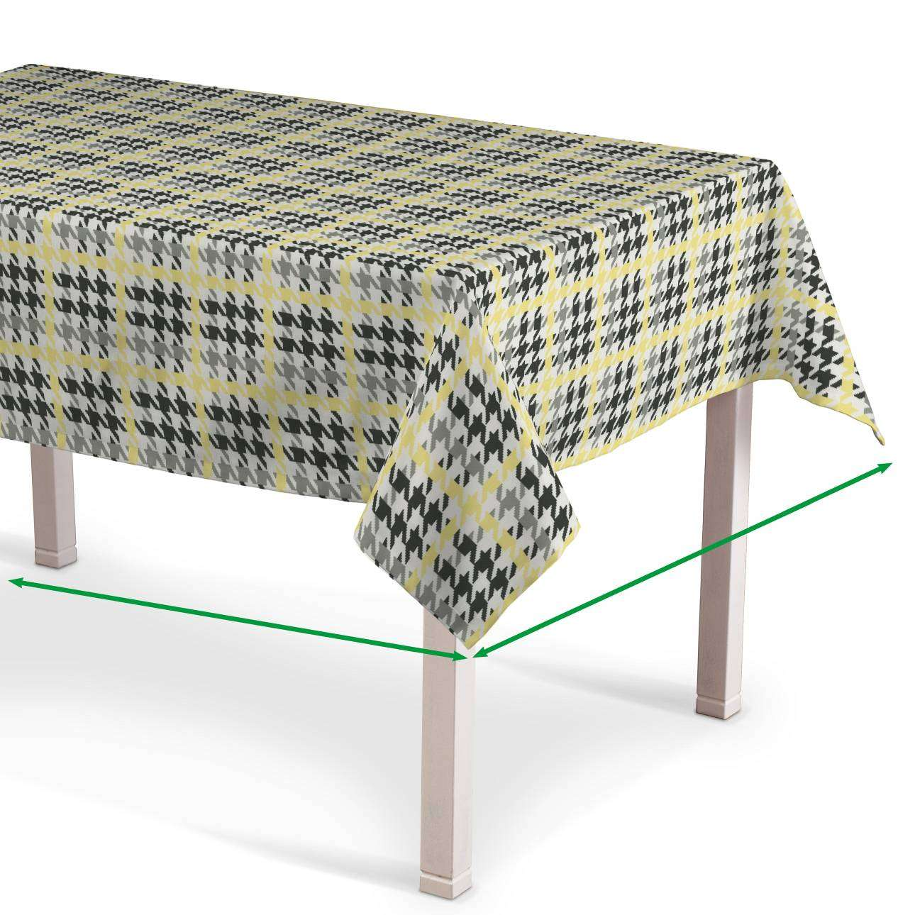 Rektangulær bordduk fra kolleksjonen RESTSALG, Stoffets bredde: 137-79