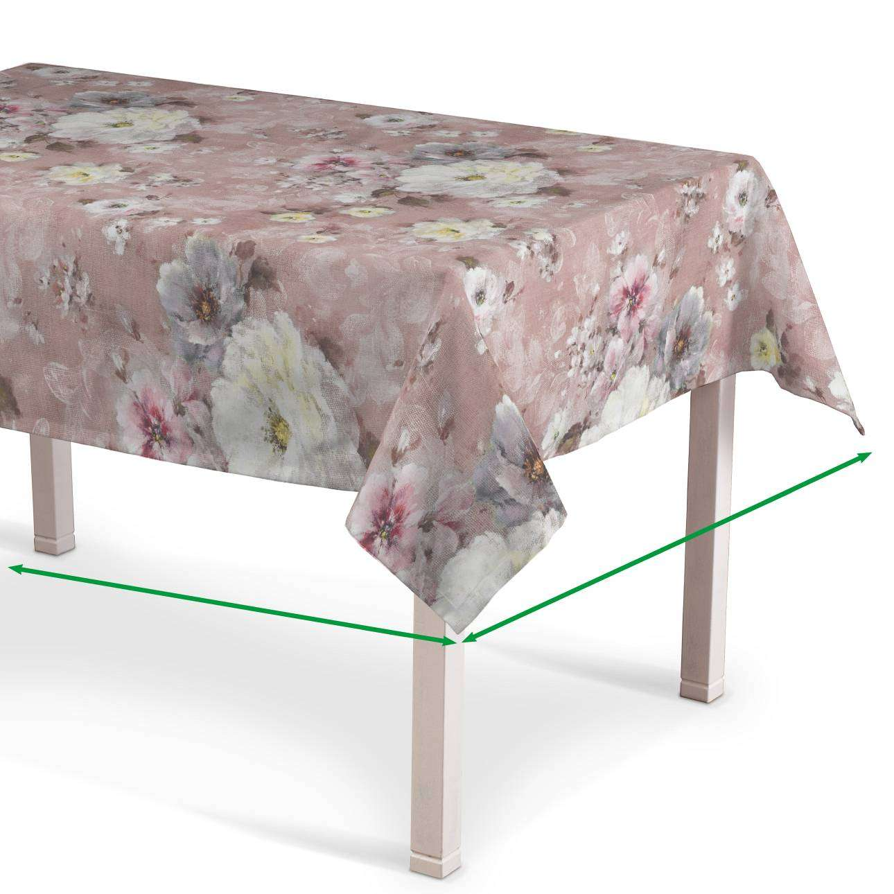 Rektangulær bordduk fra kolleksjonen Monet , Stoffets bredde: 137-83