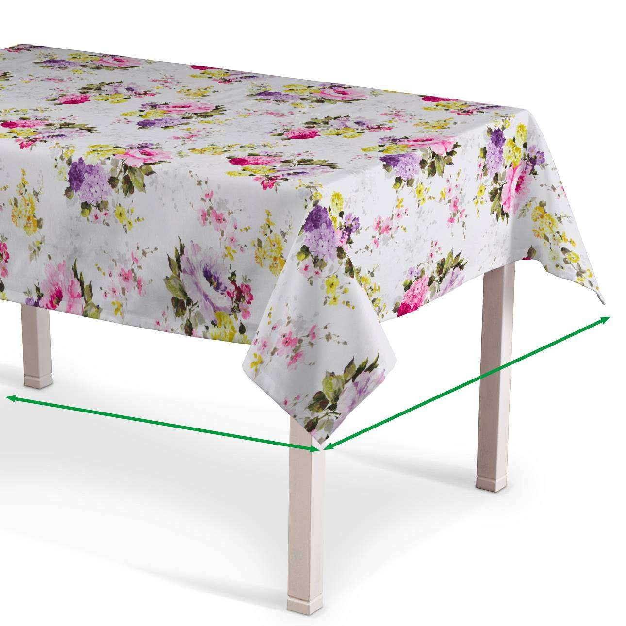 Rectangular tablecloth in collection Monet, fabric: 140-00