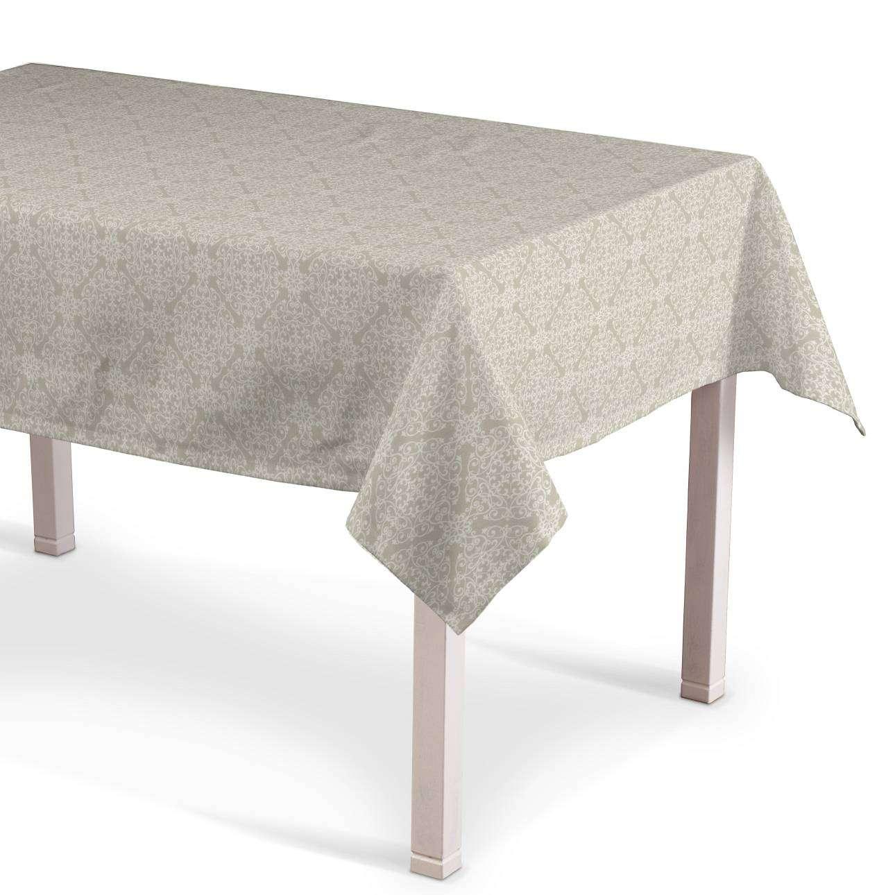 Rektangulær bordduk fra kolleksjonen Flowers, Stoffets bredde: 140-39