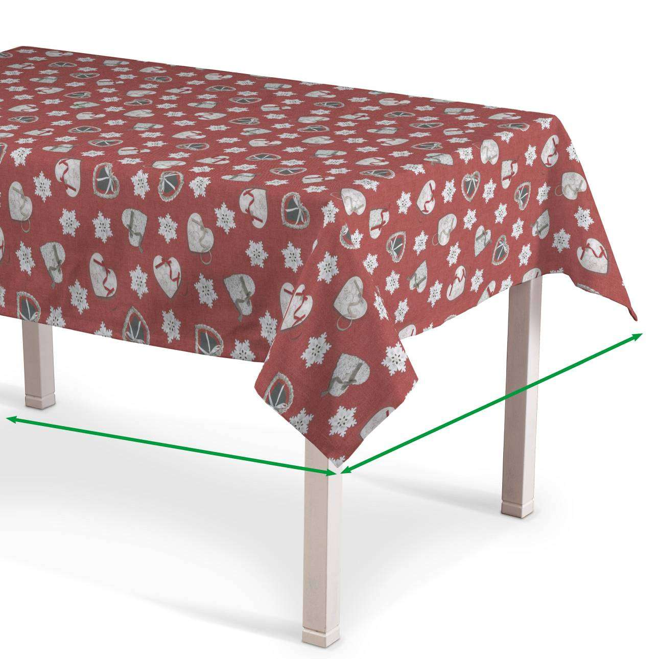 Rectangular tablecloth in collection Christmas, fabric: 629-29