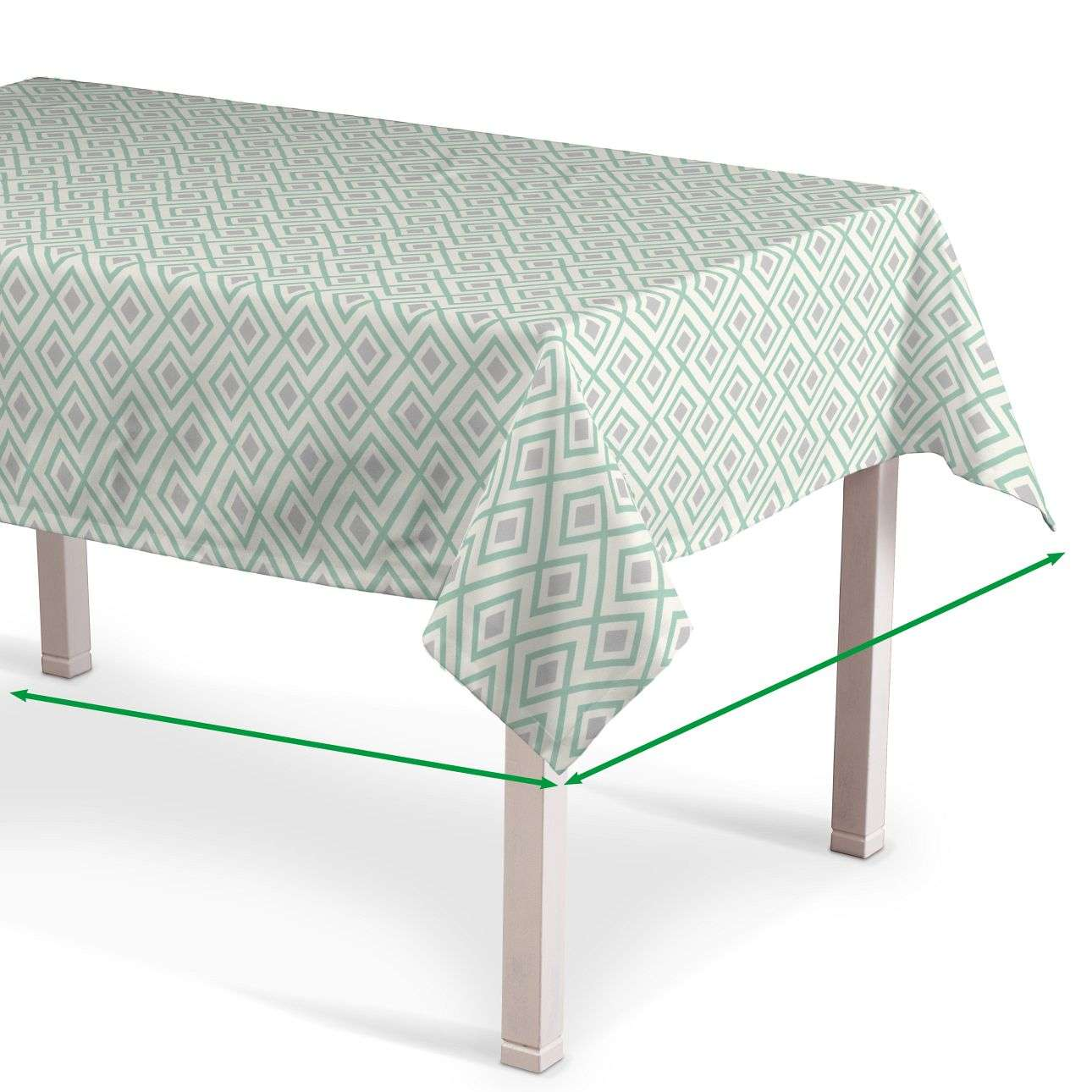Rectangular tablecloth in collection Geometric, fabric: 141-45