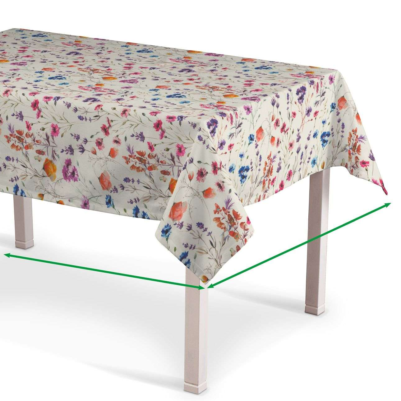 Rectangular tablecloth in collection Flowers, fabric: 141-53