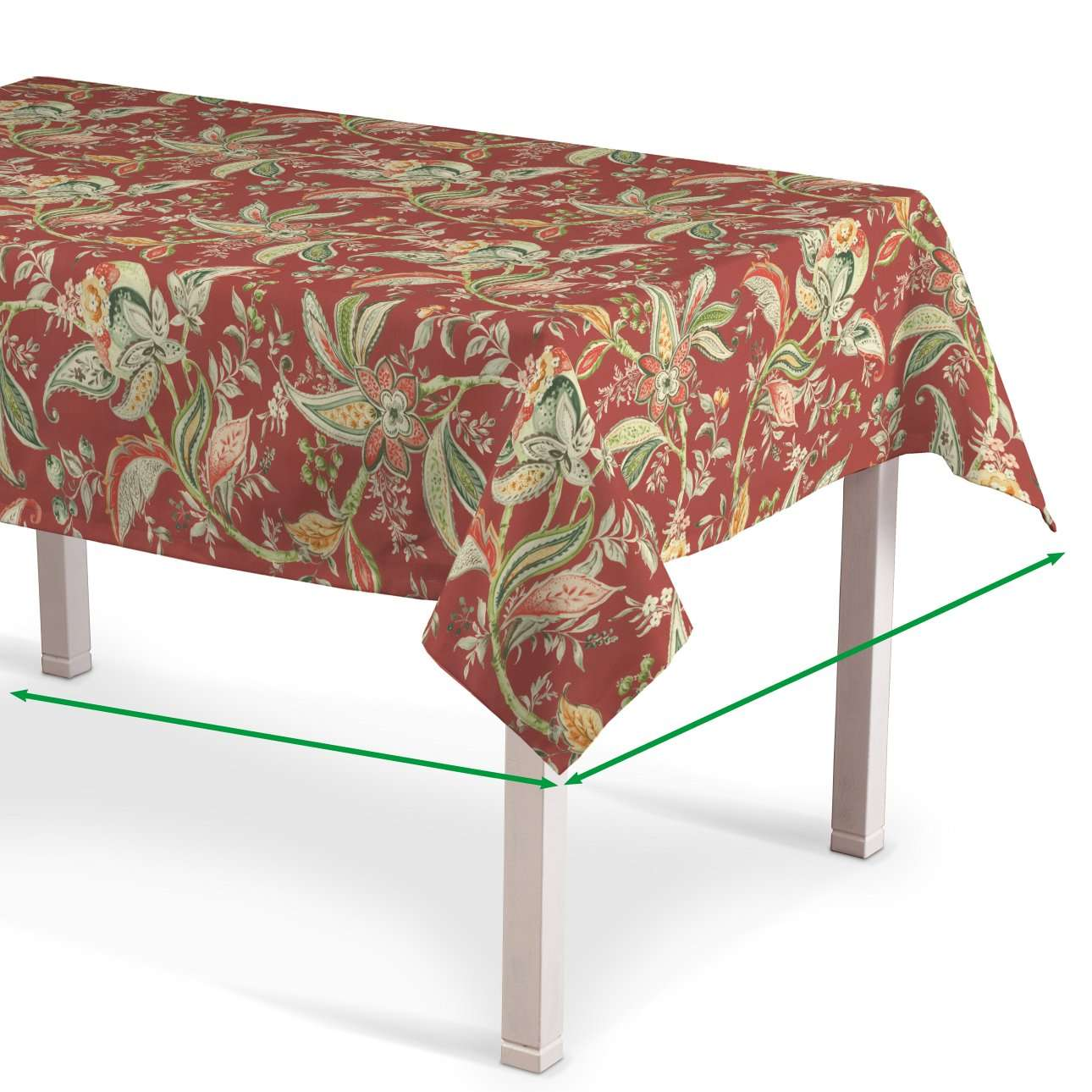 Rektangulær bordduk fra kolleksjonen Gardenia, Stoffets bredde: 142-12