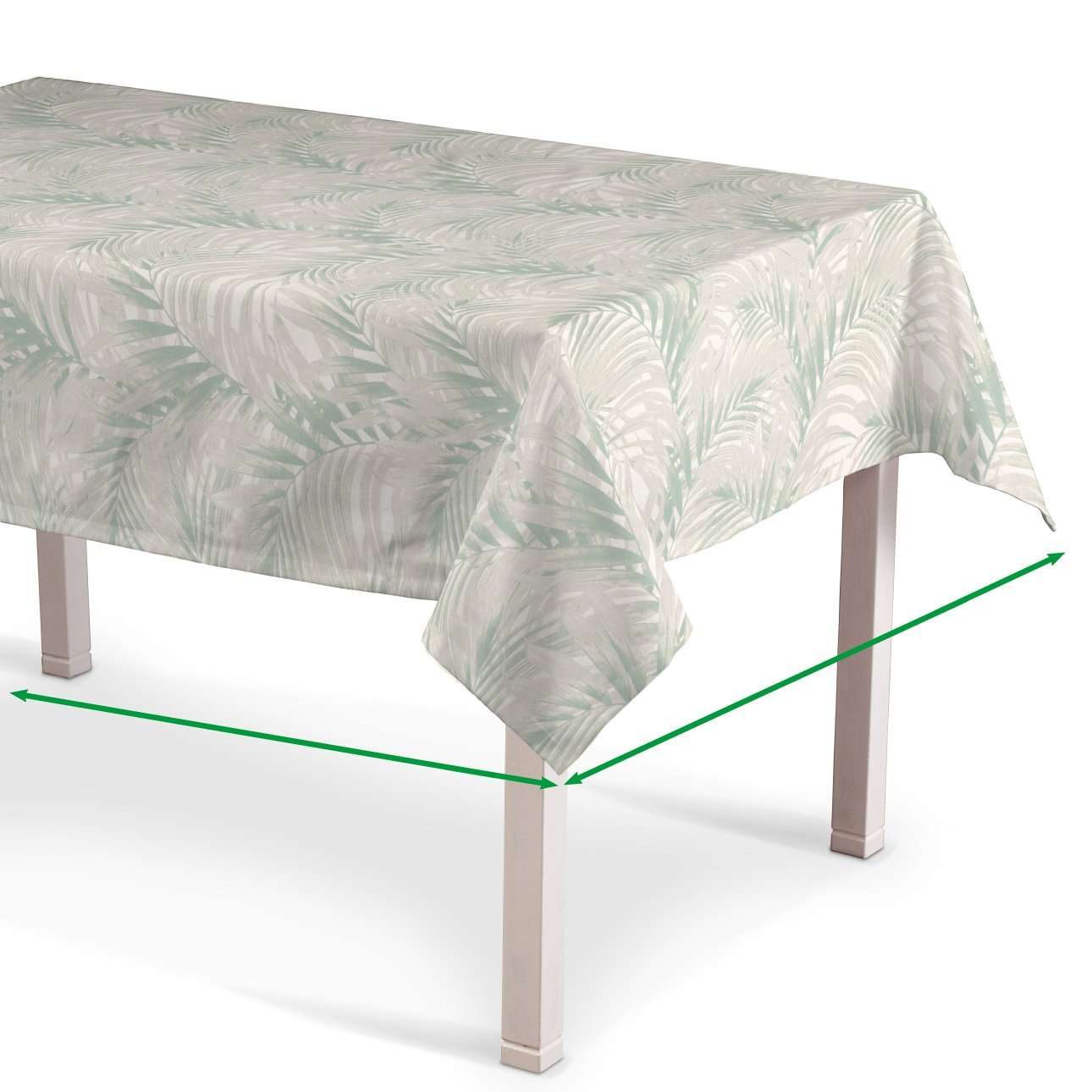 Rektangulær bordduk fra kolleksjonen Gardenia, Stoffets bredde: 142-15