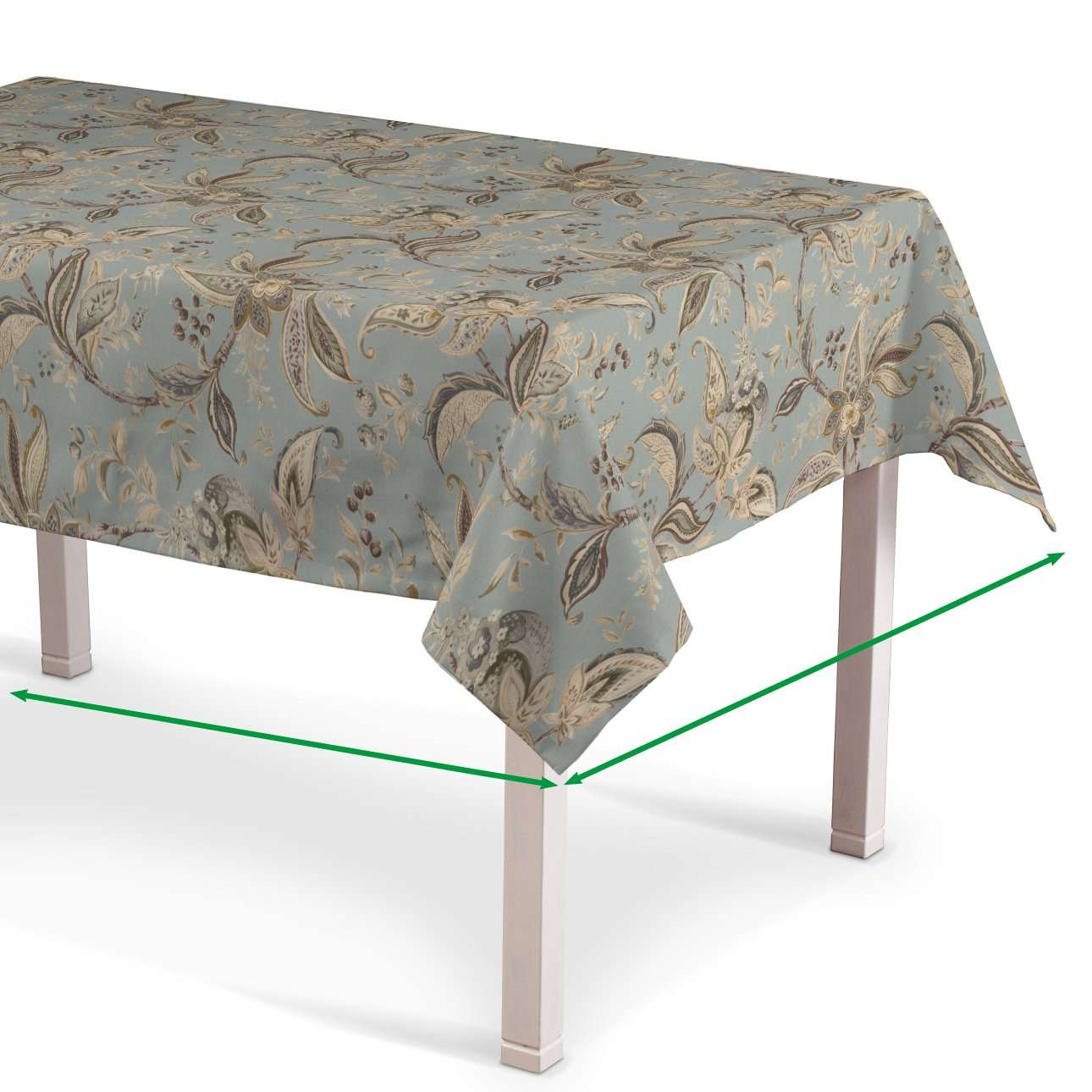 Rechthoekig tafelkleed van de collectie Gardenia, Stof: 142-18