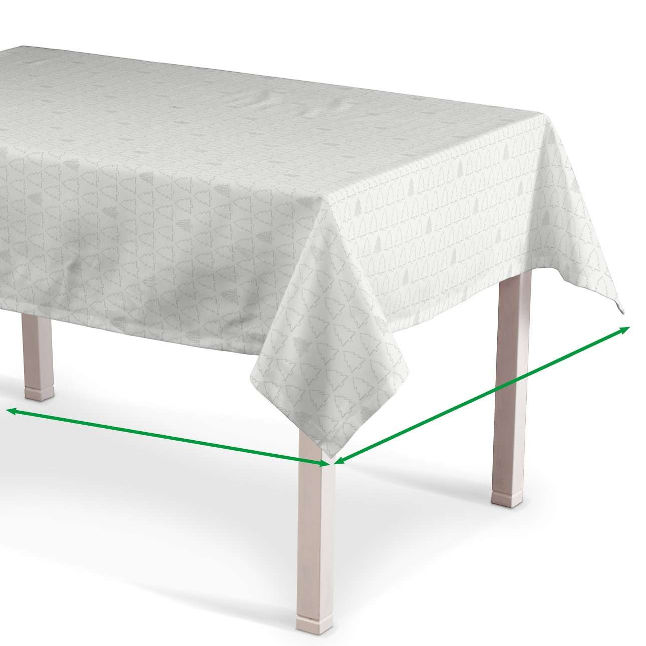 Rectangular tablecloth in collection Christmas, fabric: 629-40