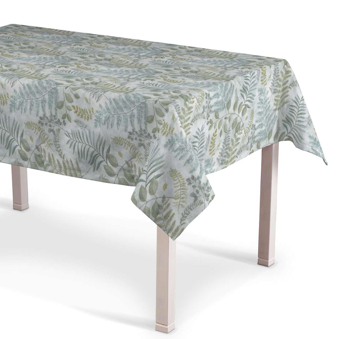 Rektangulär bordsduk i kollektionen Pastel Forest, Tyg: 142-46
