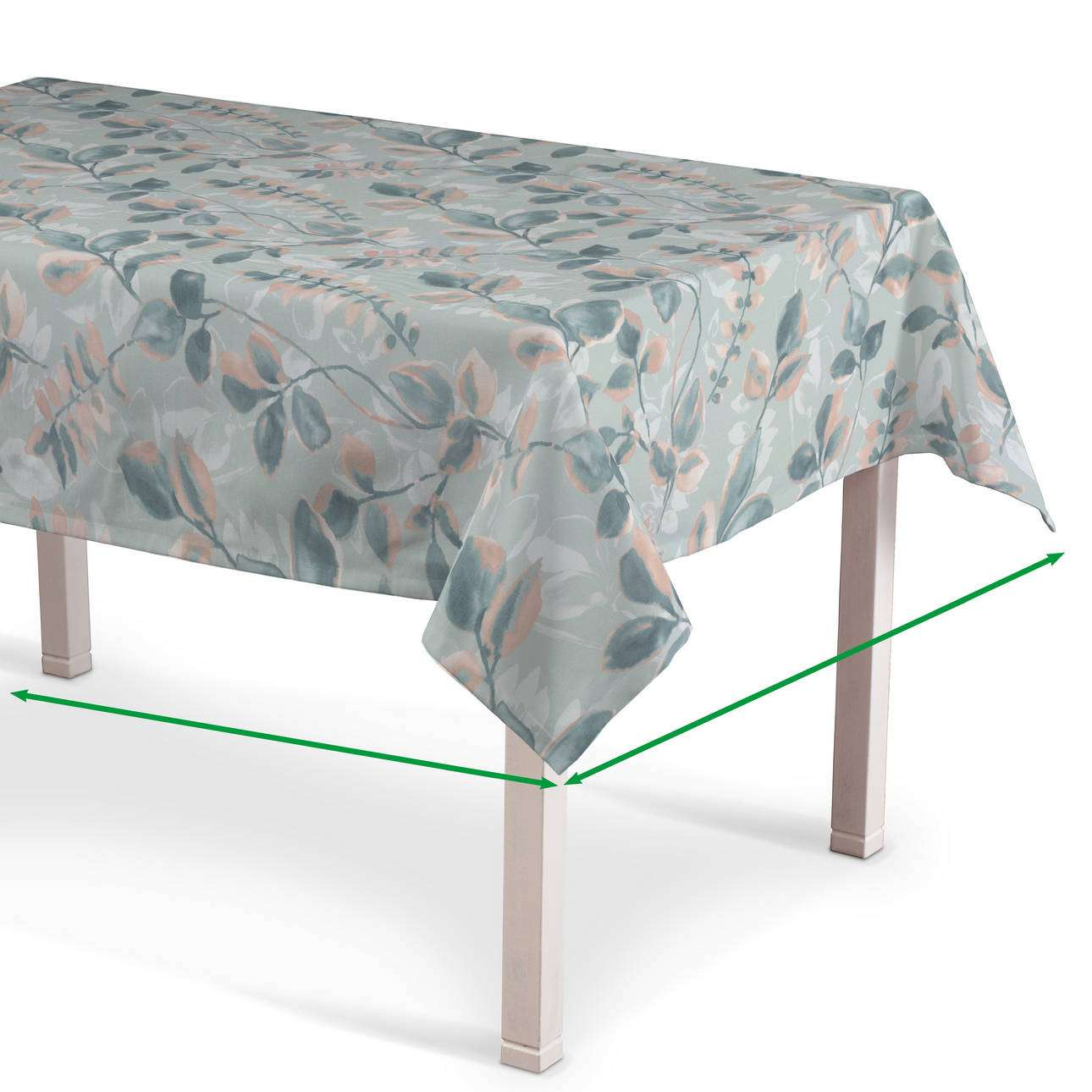 Rectangular tablecloth in collection Pastel Forest, fabric: 142-52