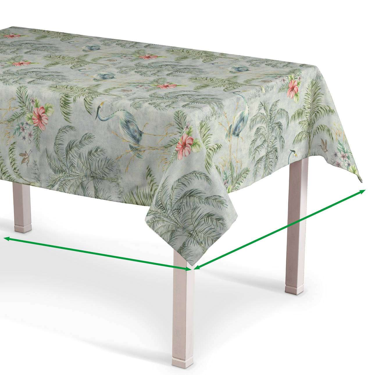 Rectangular tablecloth in collection Tropical Island, fabric: 142-58