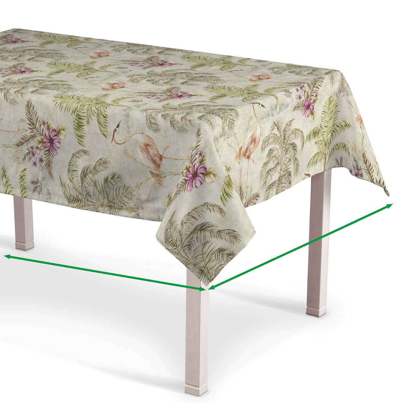 Rectangular tablecloth in collection Tropical Island, fabric: 142-61