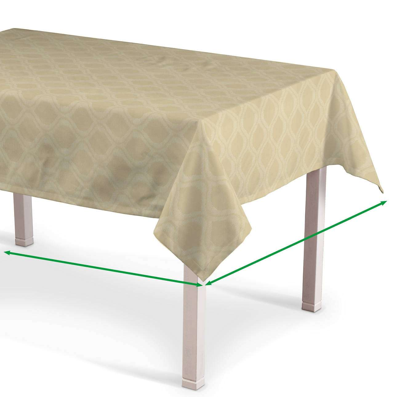 Rectangular tablecloth in collection Damasco, fabric: 142-53
