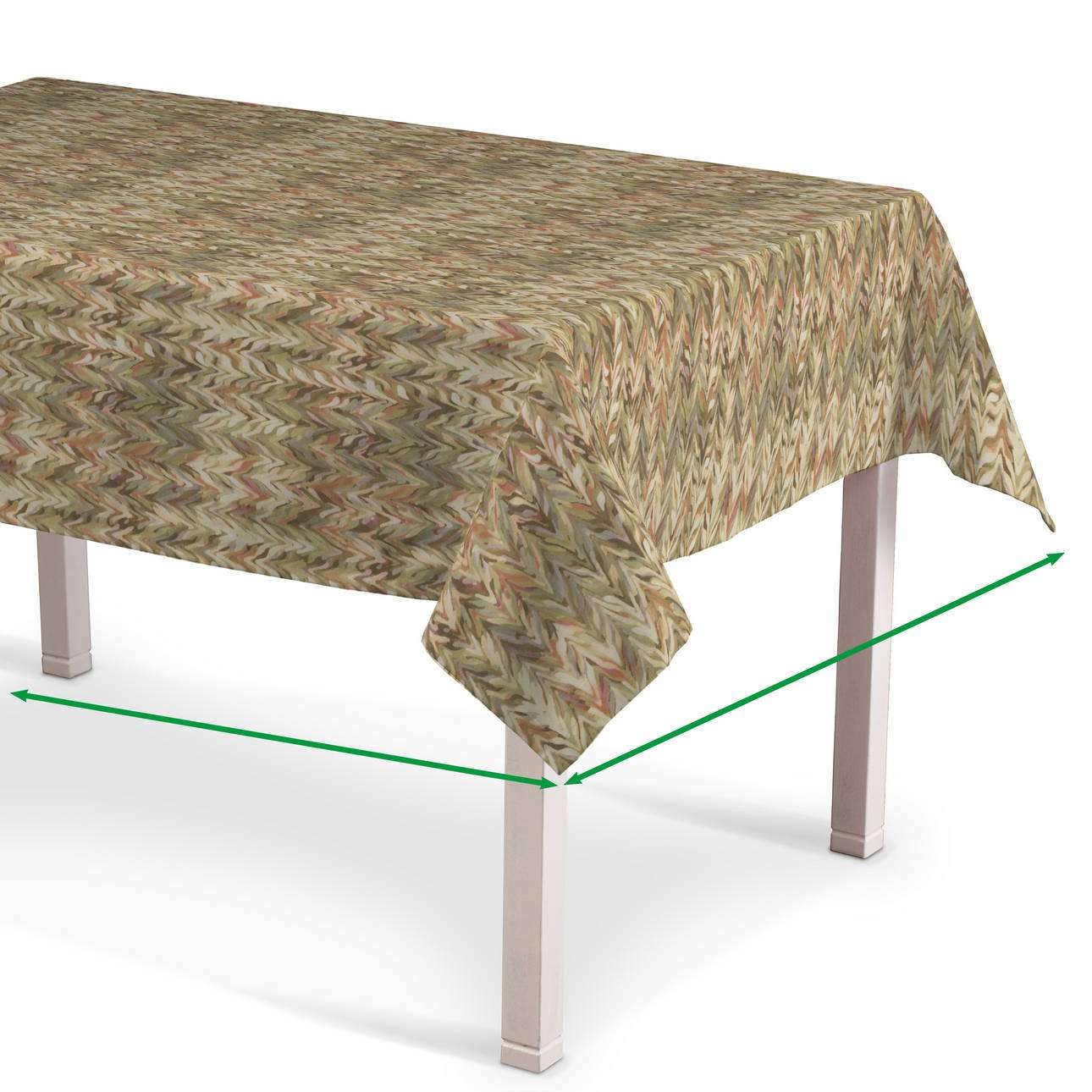 Rectangular tablecloth in collection Tropical Island, fabric: 142-66