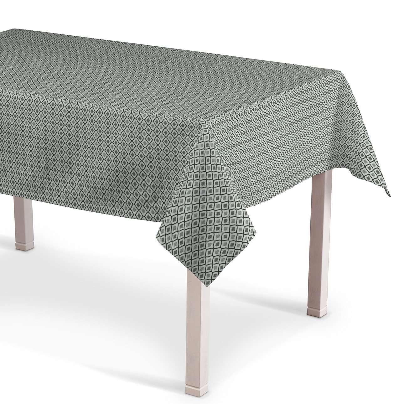 Rektangulär bordsduk i kollektionen Black & White, Tyg: 142-76
