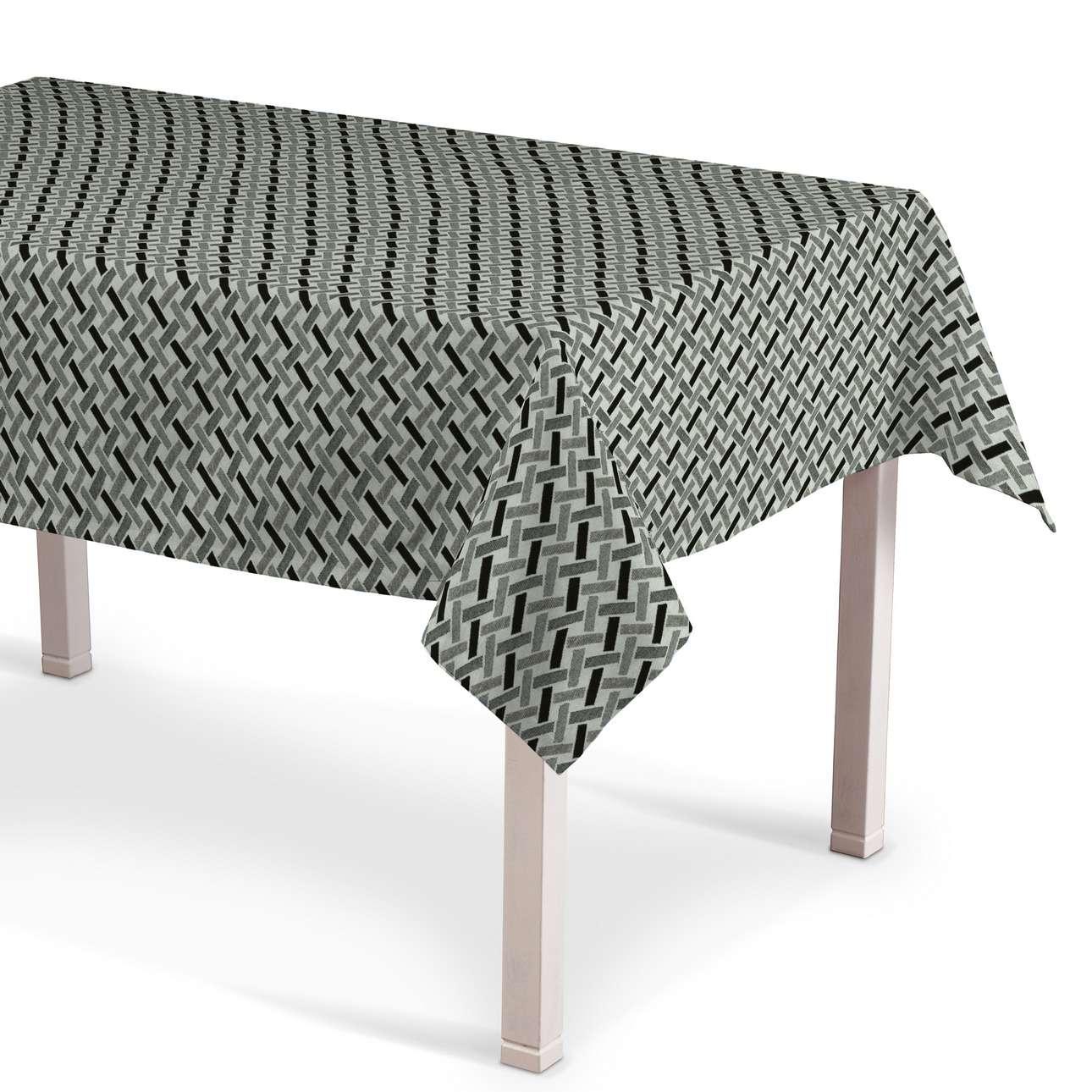 Rektangulär bordsduk i kollektionen Black & White, Tyg: 142-78