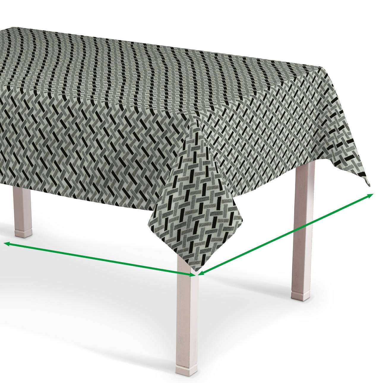Obrus na stôl obdĺžnikový V kolekcii Black & White, tkanina: 142-78