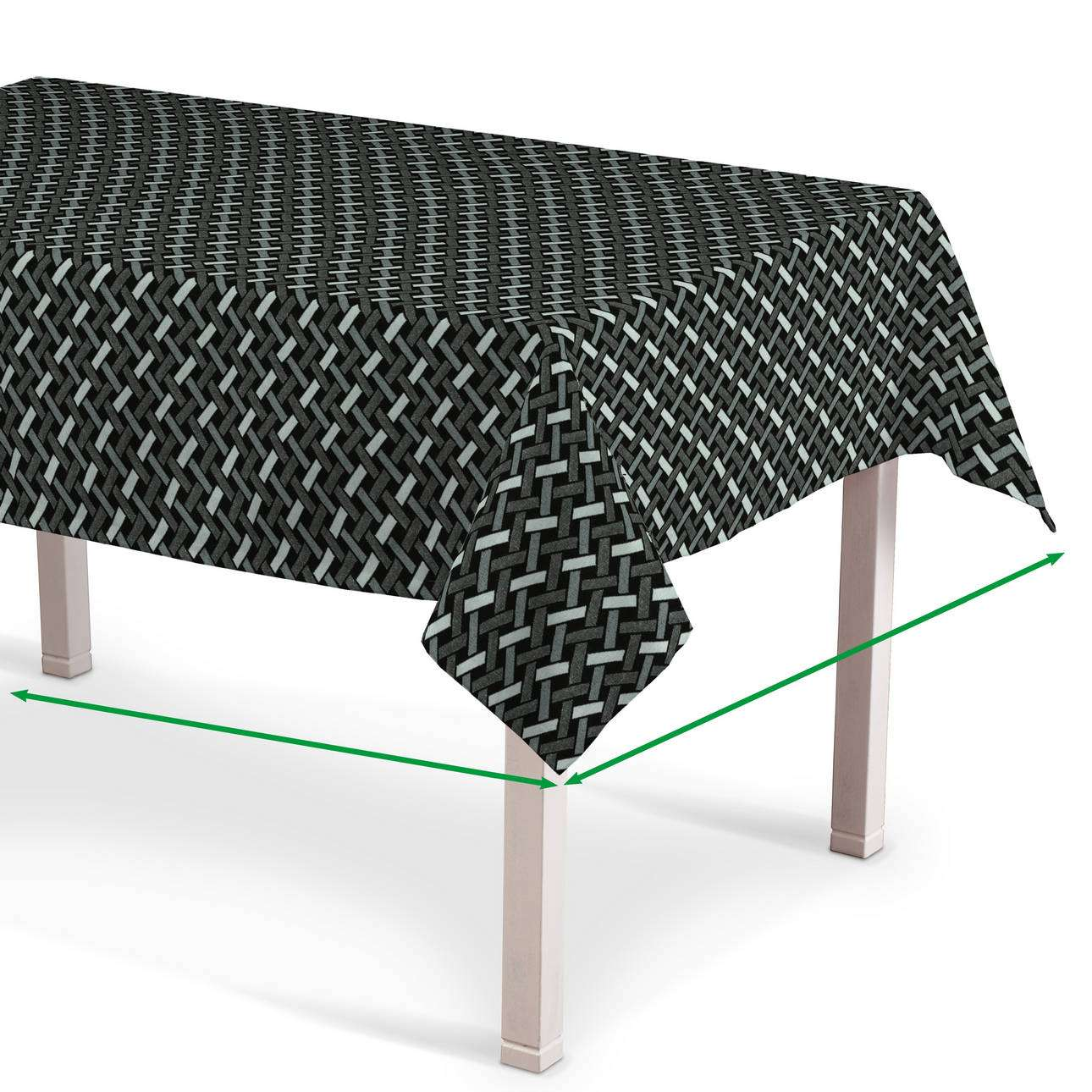 Rechthoekig tafelkleed van de collectie Black & White, Stof: 142-87