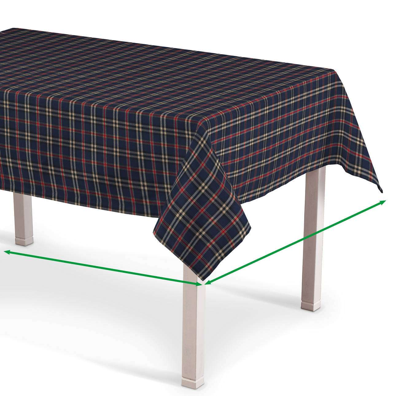Rektangulär bordsduk i kollektionen Bristol, Tyg: 142-68