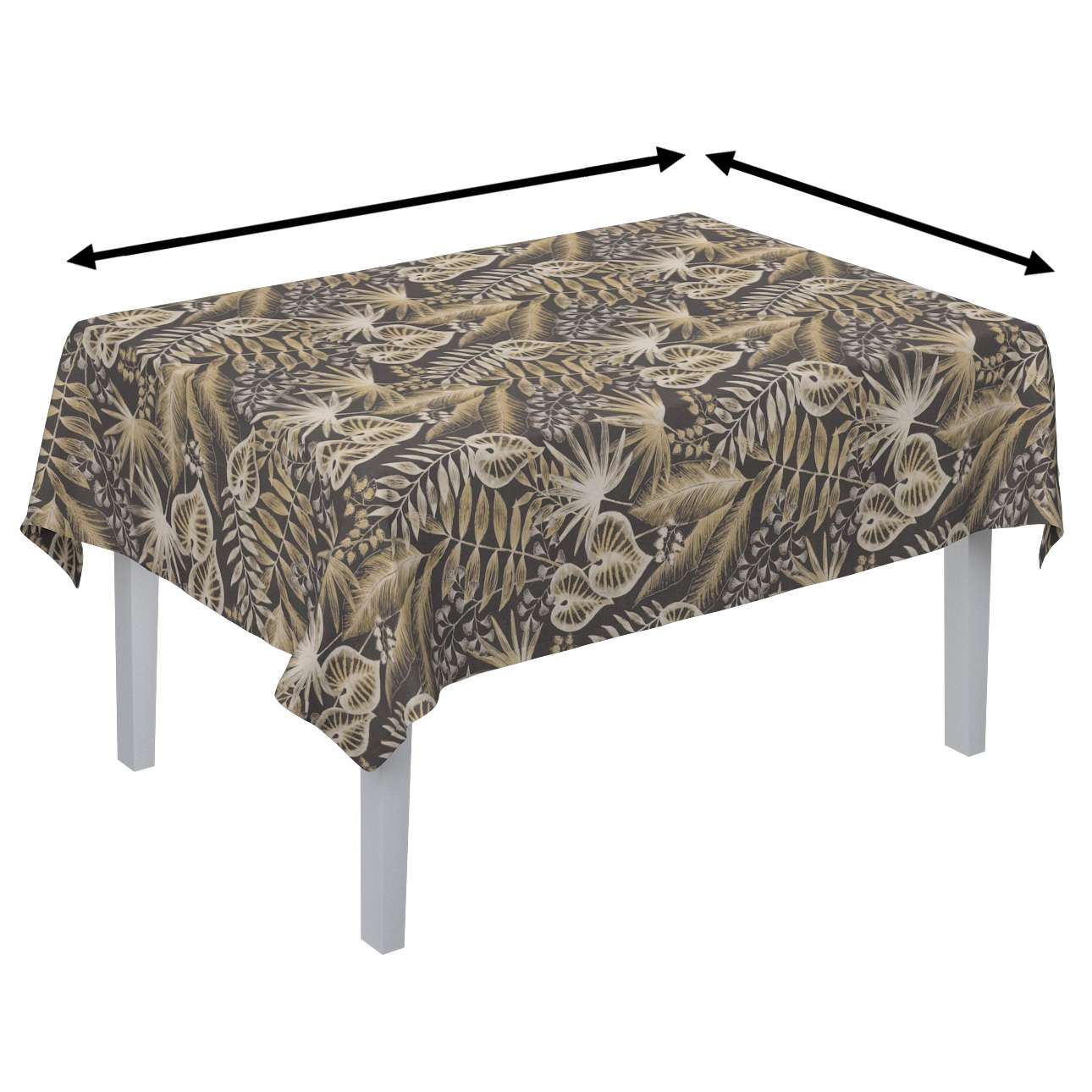 Rectangular tablecloth in collection Tropical Island, fabric: 142-94