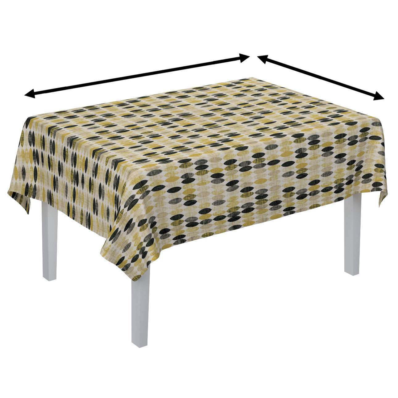 Rektangulær bordduk fra kolleksjonen Modern, Stoffets bredde: 142-99