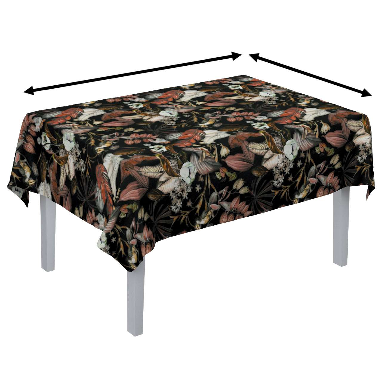 Rektangulär bordsduk i kollektionen Abigail, Tyg: 143-10
