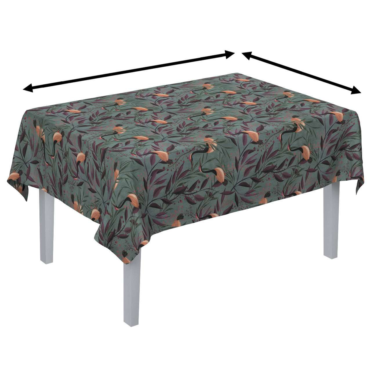 Rectangular tablecloth in collection Abigail, fabric: 143-11
