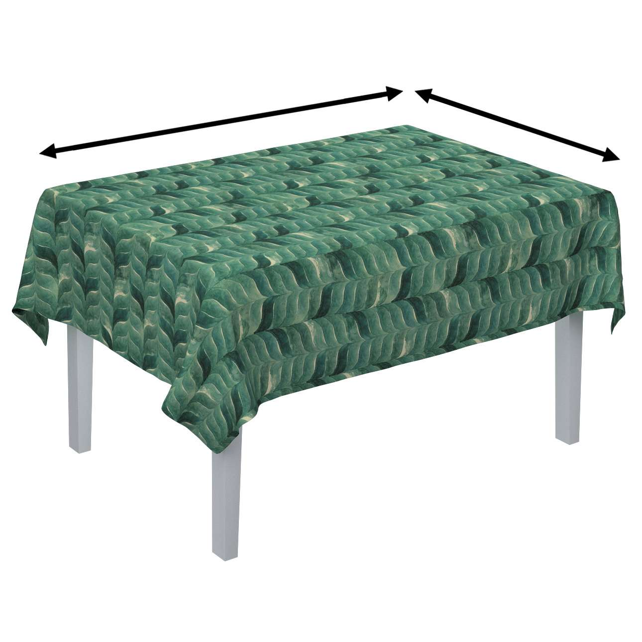 Rectangular tablecloth in collection Abigail, fabric: 143-16