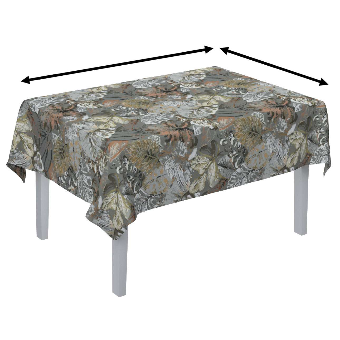 Rectangular tablecloth in collection Abigail, fabric: 143-19