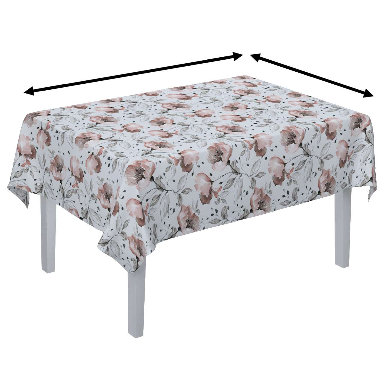 Rektangulær bordduk fra kolleksjonen Velvet, Stoffets bredde: 704-50