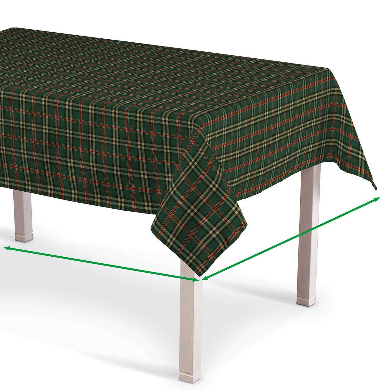 Rektangulär bordsduk  i kollektionen Christmas, Tyg: 142-69