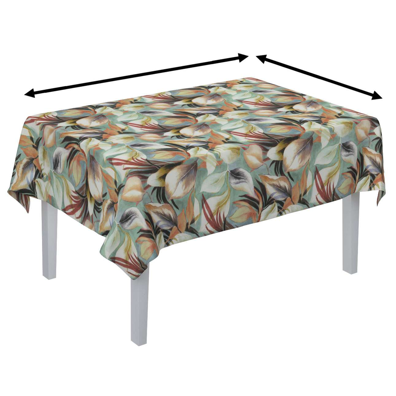 Rectangular tablecloth in collection Abigail, fabric: 143-61
