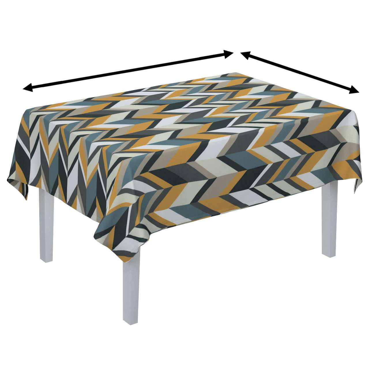Rektangulär bordsduk i kollektionen Vintage 70's, Tyg: 143-56