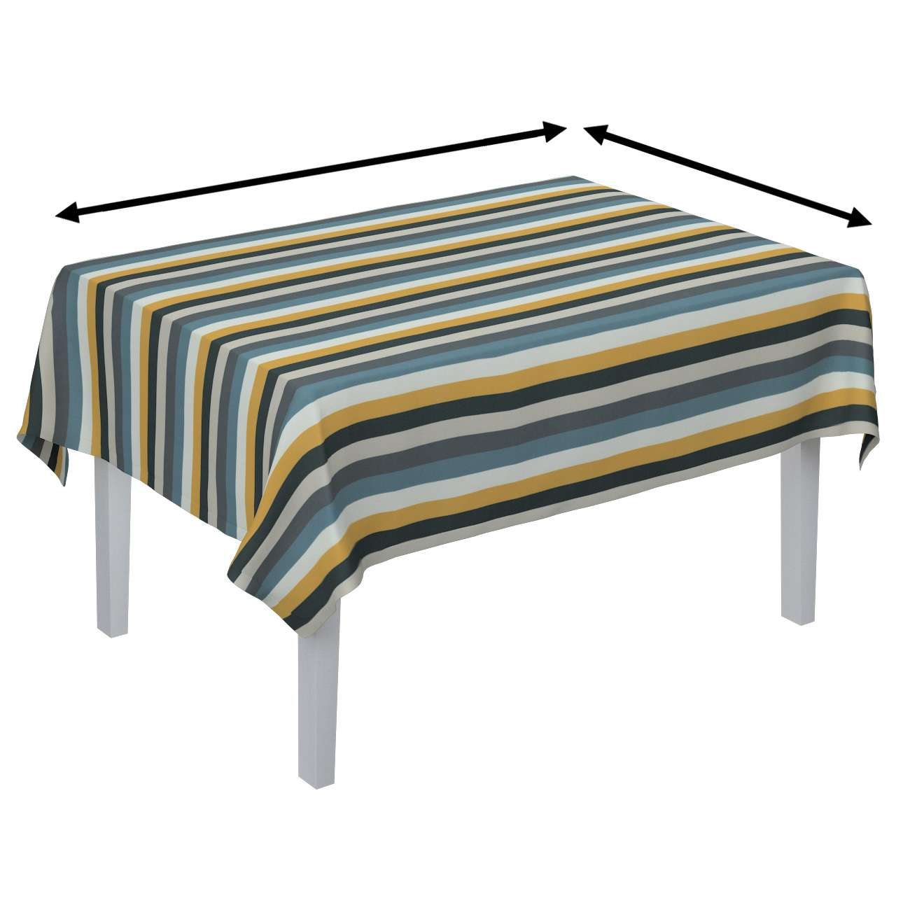 Staltiesės (stalui su kampais) kolekcijoje Vintage, audinys: 143-59