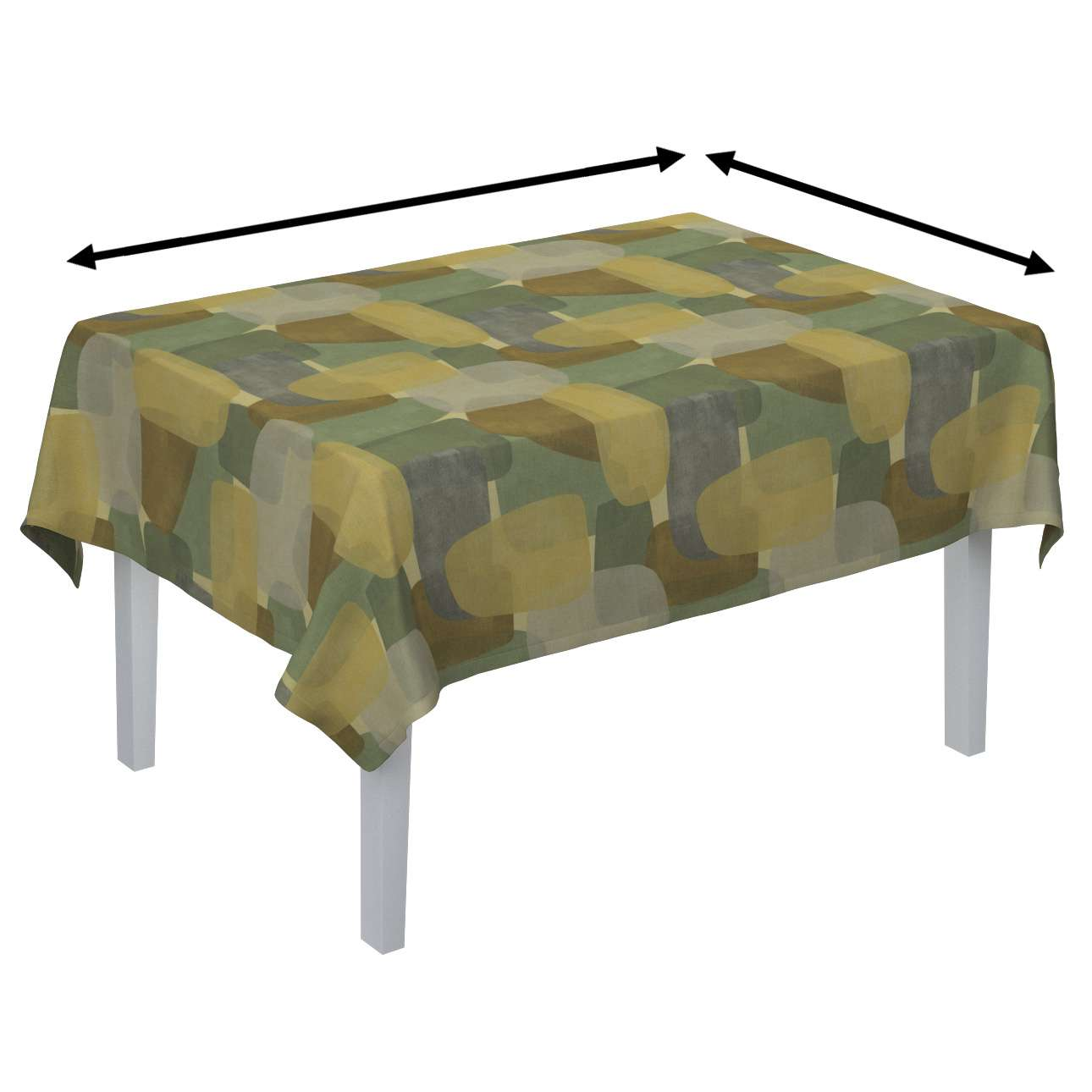 Rectangular tablecloth in collection Vintage 70's, fabric: 143-72