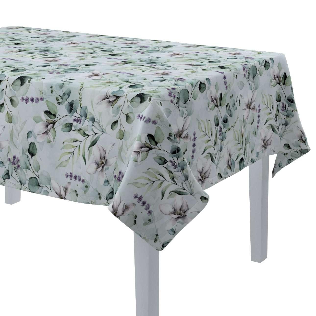 Rektangulär bordsduk i kollektionen Flowers, Tyg: 143-66