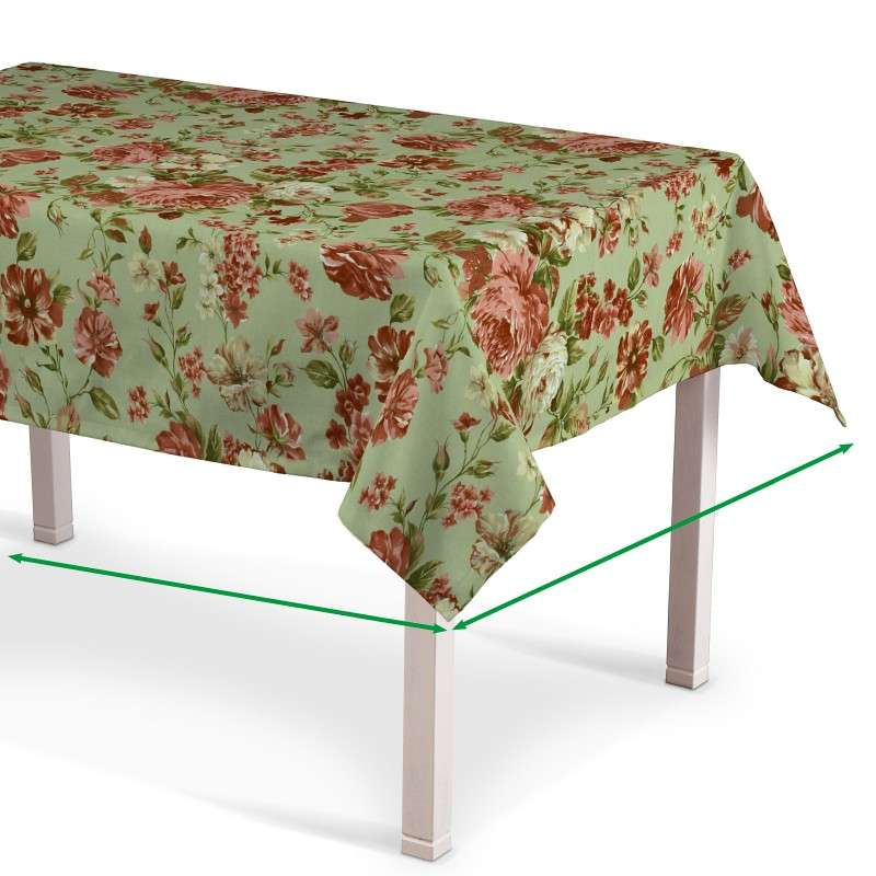 Rectangular tablecloth in collection Flowers, fabric: 311-06