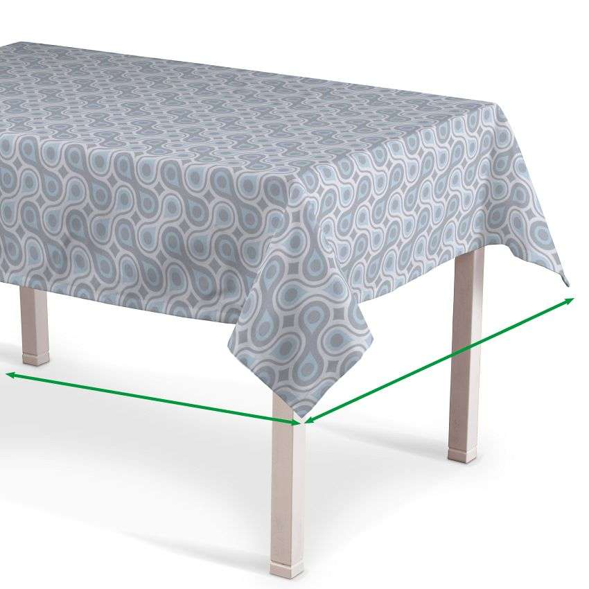 Rectangular tablecloth in collection Flowers, fabric: 311-13
