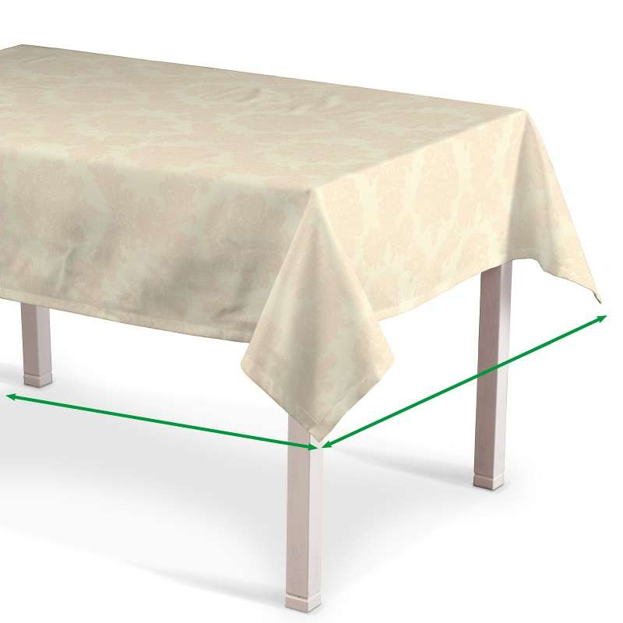 Rektangulär bordsduk  i kollektionen Damasco, Tyg: 613-01