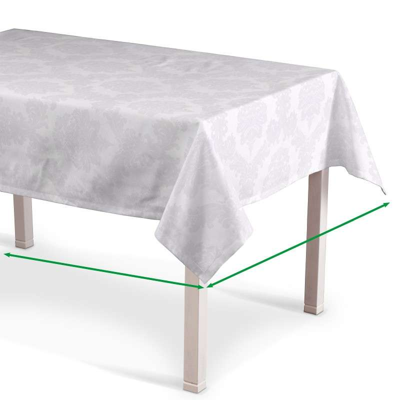 Rectangular tablecloth in collection Damasco, fabric: 613-00